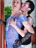 All dolled-up sissy guy going for one-on-one screwing with his male lover