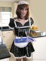 Dolled-up sissy showcases his whoring skills